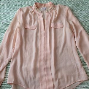 Candie's Pink Beaded Top
